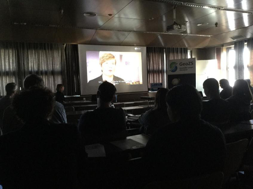 The screening of the project's dissemination video