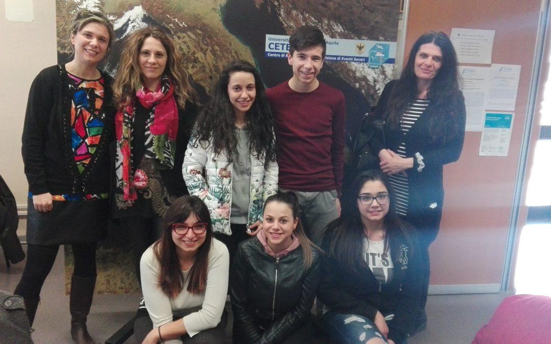 """Il CETEMPS apre le porte agli studenti dell'IIS """"Amedeo D'Aosta"""""""