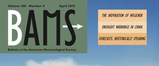 Il BAMS dedica la copertina di Aprile ad uno studio firmato anche dal CETEMPS
