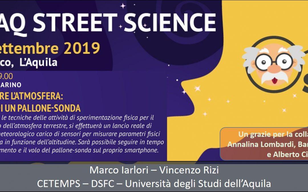 Street Science 2019 – Lancio pallone sonda