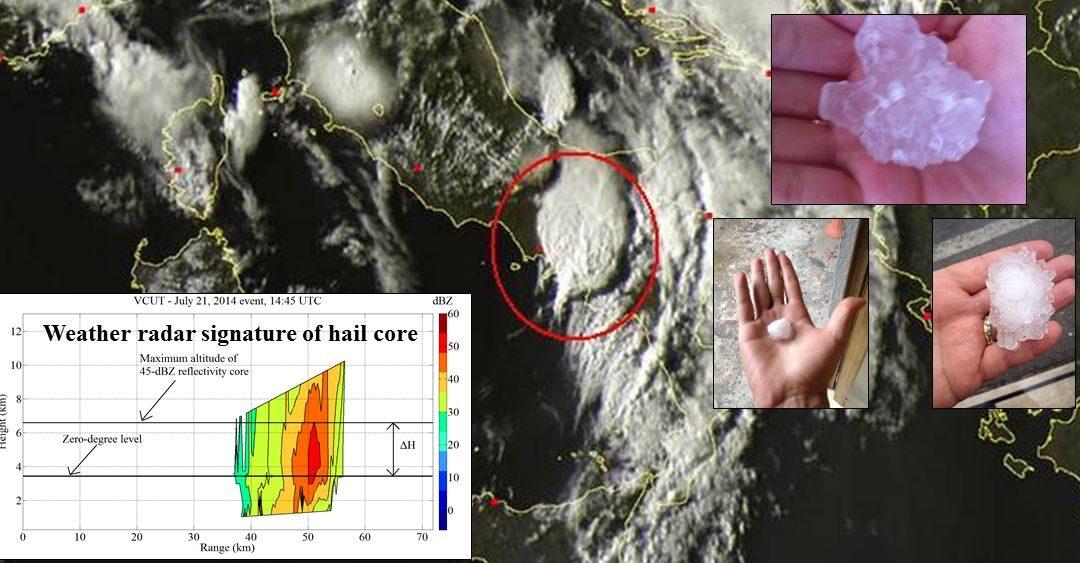 Identificazione di fenomeni di grandine tramite misure radar in banda X