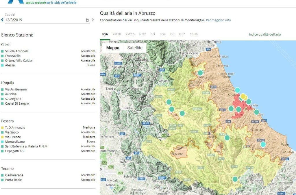 Nuovo servizio previsionale della qualità dell'aria di ARTA Abruzzo in collaborazione con CETEMPS
